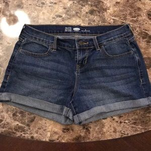 NEW Old Navy Semi Fitted Jean Cuffed Shorts Size 2